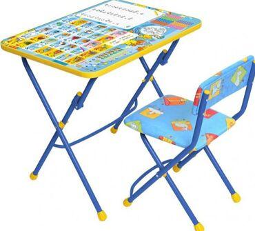 Детская парта и стул. Производство Россия.  Размер поверхности стола 6