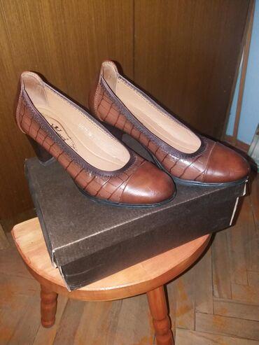 Ženska obuća | Bor: SNIZENO. Braon, udobne cipele od vestacke koze. nosene u dva