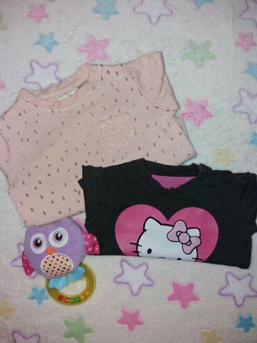 Majice komada - Srbija: Duks-majice vel.68 - puder roze marke Zara i Hello Kitty marke Baby