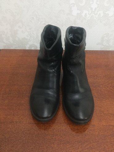 Продаются кожанные, черные ботинки. в Бишкек