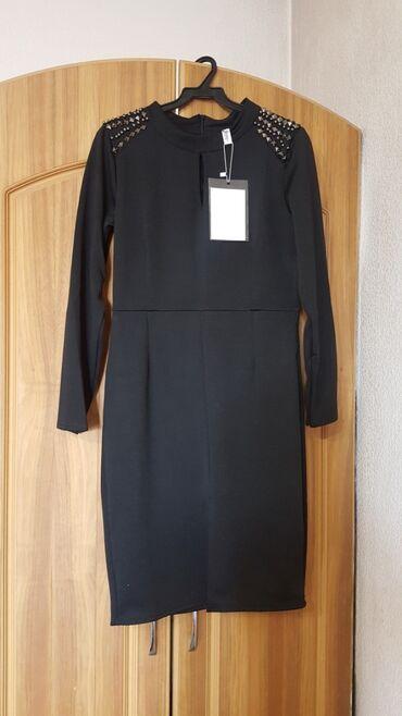 Платье новое размер 42-44 S-M черное платице