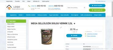 Hazir internet maqazin sayti satilir, Tikinti materiallari satisi ucun