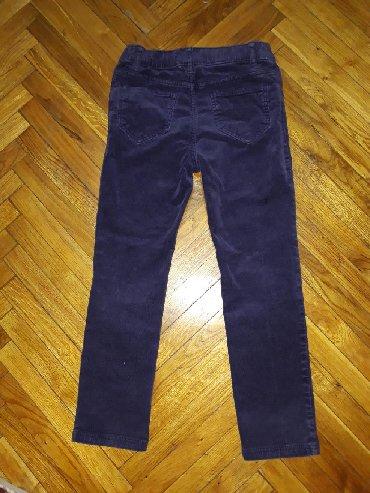 Helanke farmerke - Srbija: HM somot helan pantalone. Velicina 116. Bez ostecenja. Boja izmedju