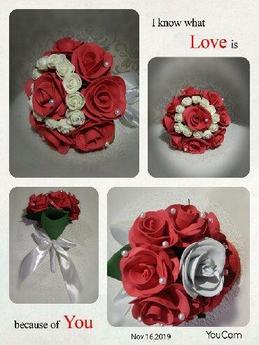 свадебная фотосъемка в Кыргызстан: Цветочки из фаомирана на заказ для подарка, свадебные букеты