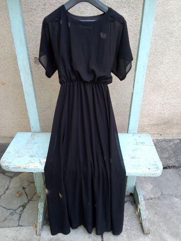вечернее платье 48 50 размер в Кыргызстан: Красивое чёрное платье, размер 46-48, l на xl. Смотрится очень