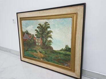 Slike na platnu - Srbija: Odlicna slika u lux ramu dimenzije71 cm90 cm SLIKA JE ULJE NA