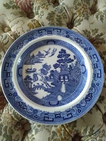 Stari tanjir za poeculan,ko se razume sve mu jasno,pogledaj slike - Sombor