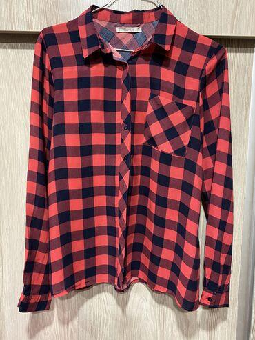 Рубашка тоненькая Pullandbear размер S ткань 100% вискоза