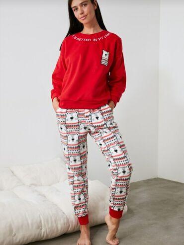 pijama - Azərbaycan: Qırmızı qalın pijama