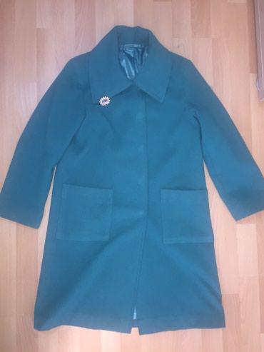 Пальто бирюзового цвета, размер S-M в Бишкек