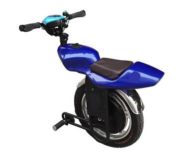 Seated one wheel scooter