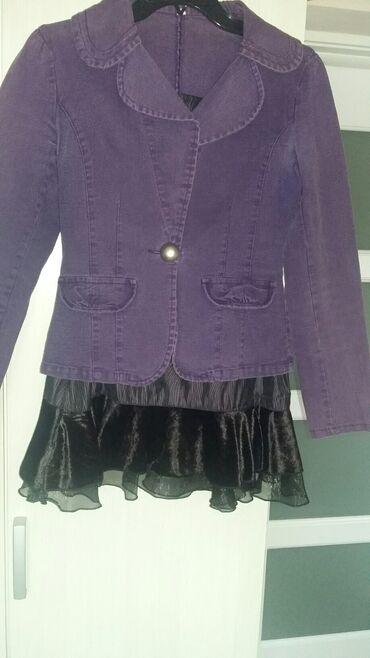 Komplet suknja i sakoKomplet u ljubičastoj boji,zanimljiva