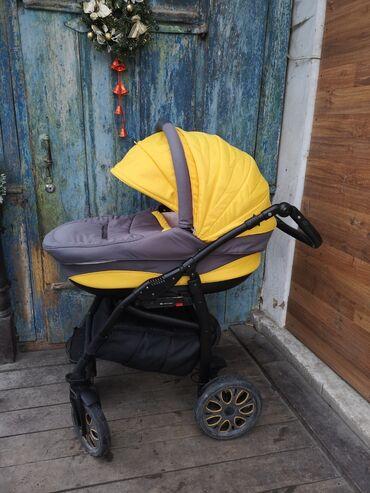 Детский слипик - Кыргызстан: Детская польская коляска 3 в 1м б/у фирмы Адемикс в отличном