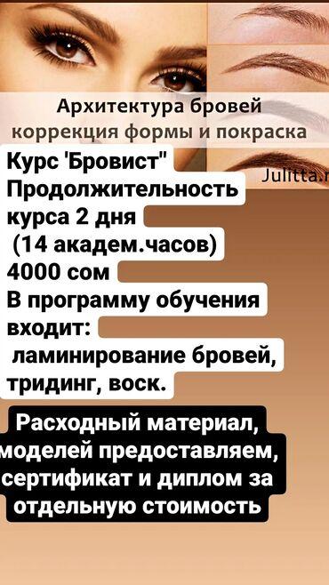 бровист бишкек in Кыргызстан | ЖҮК ТАШУУ: Каштар | Коррекция, Каш чеберлеринин башка кызматтары | Консультация