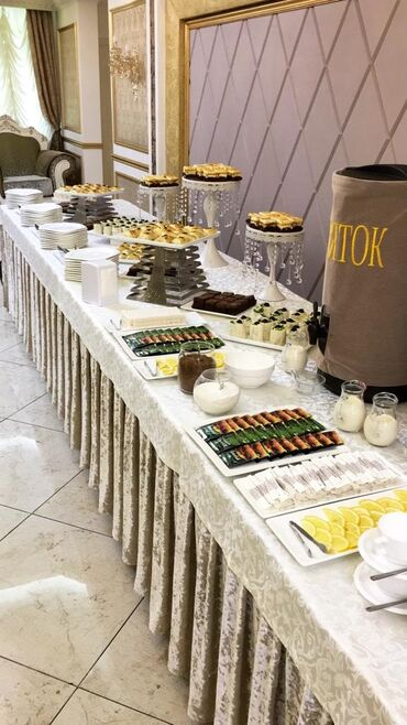 прокат посуды в Кыргызстан: Выездные банкеты | Повара, Официанты, Бармены | Welcome drink, Фуршетный стол