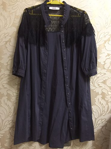 Платье-рубашка из Турции темносинего в Чаек