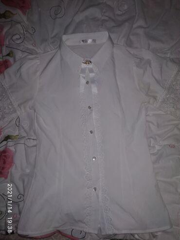 Школьная рубашка на девочку от 10 до 12 лет. Состояние 10/10 носили 1