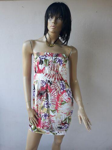 Haljine - Prokuplje: Pamučna haljinica bez ostecenja sa elastinom Velicina M/LPogledajte i