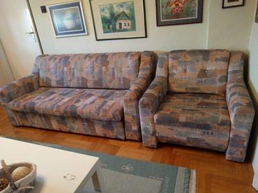 Kauč na izvlačenje i dve fotelje, u veoma dobrom stanju! - Palic