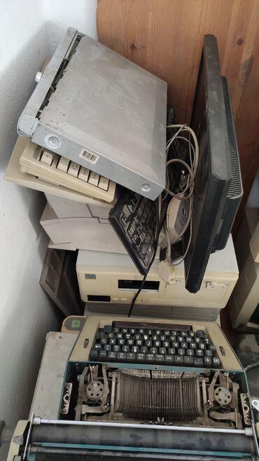 Печатные машинки, мониторы, компьютеры принтеры, сканеры