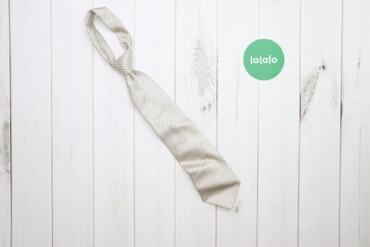 Аксессуары - Украина: Чоловіча біла краватка з принтом    Довжина: 133 см Ширина: 9 см Матер