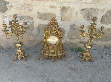 Ev üçün dekor - Azərbaycan: Qedim burunc shamdamlar ve saat desti 8 kilo ceki var material burunc