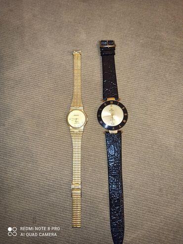 Vintage ρολόγια Seiko χρυσό και Richelieu μαυρο δερμάτινο 25 το καθέν