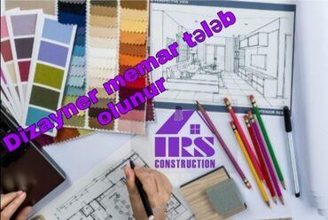 İRS MMC Construction şirkətinə memar - dizayner tələb olunur. 3D Max