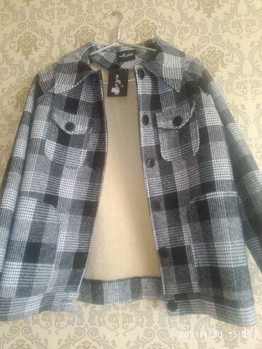Пальто-пиджак р 46-48 М Л новое твидовый тренд 2001г, утеплённый с