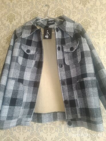 Пальто-пиджак р 46-48 М L любите клетчатого новое для зимы весны осени