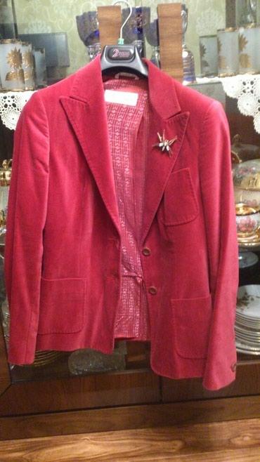 женские велюровые халаты в Азербайджан: Пиджак MaxMara. оригинал!!!Италия велюровый малинового цвета размер