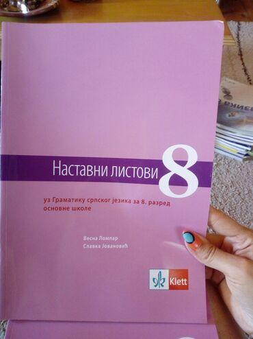 Knjige, časopisi, CD i DVD | Pancevo: Nastavni listovi NOVO,za 8.razred
