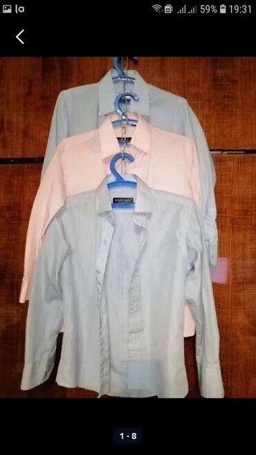 платья рубашки без рукавов в Кыргызстан: РУБАШКИ С ДЛИННЫМ РУКАВОМ.2 РУБАШКИ НЕЖНО ГОЛУБОГО ЦВЕТА РАЗМЕР 31.1
