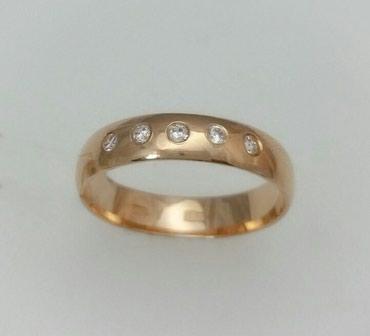 Кольцо обручальное из красного золота с цирконом Цена: 8500 в Лебединовка