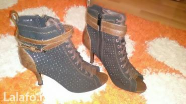 Ženska obuća | Kladovo: Zenske gleznjace crne braon kratke cizme sa cirkonima stikle br