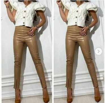 Braon somot pantalone - Srbija: Kožne pantalone NOVO SA ETIKETOM!* Nova Kolekcija *Dostupne boje