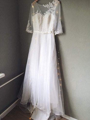 Новое свадебное платье, силуэт «А». размер : 44