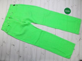 Женские брендовые неоновые брюки Versace. р. M-L   Длина штанины: 106