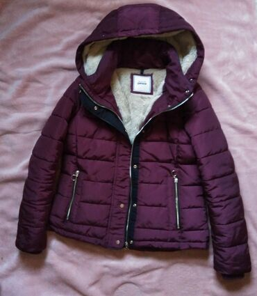 Pimkie bordo crvena zimska topla jakna sa krznom, L vel.Ramena 40