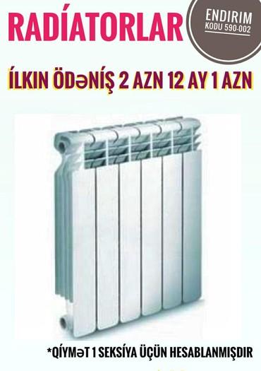 radiator kombi - Azərbaycan: Kombi və Radiatorlar kreditle Zaminsiz Arayışsız Yalnız şəxsiyyət