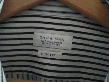Nova kvalitetna muška košulja zara veličina l jednom obučena ali - Pozarevac