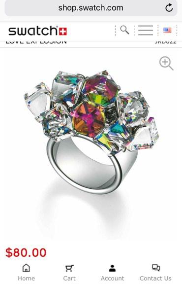 Swatch perfektan prsten, potpuno nov, sa posebnim kristalima, vrlo - Nis
