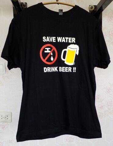 """Мужские плащи в Душанбе: Футболка мужская """"Сохрани воду, пей пиво!""""Размер: 48-50Материал: 100%"""