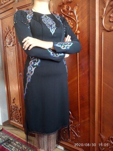 Женская одежда - Кашка-Суу: Шикарное платье с кыргызскими орнаментами! Очень хорошо сидит!