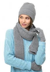 платье с люрексом больших размеров в Кыргызстан: Набор/комплект шапка+шарф с люрексом. Цвет: серыйНабор