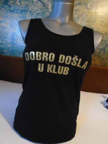 Atlet majice - Srbija: Crna atlet majica sa originalnim natpisom od 95% pamuka i 5% likre