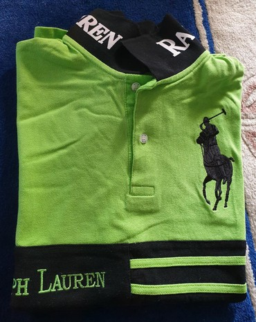 L-velicina-nova - Srbija: Potpuno nova majica za muskarce Ralph Lauren. Zelena, velicina l-xl