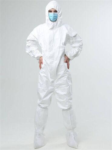 Защитный костюм Материал: Тайвек Страна производитель: Турция Размер