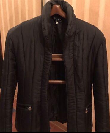 Куртка шелк приталенная утепленная стеганная на замке раз М