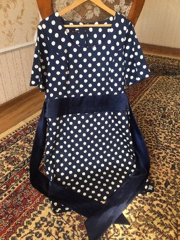 блузка в горошек в Кыргызстан: Платье в горошек, с атласными лентами, по колено